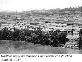 Radford Army Ammunition Plant under construction June 26, 1941
